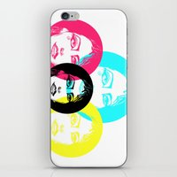 CMYK Punk iPhone & iPod Skin