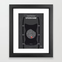 No605 My Citizen Kane minimal movie poster Framed Art Print