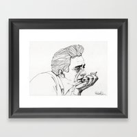 Man in Black Framed Art Print