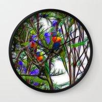 Abstract Beautiful Rainb… Wall Clock