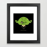 StarWars May the Force be with you (green vers.) Framed Art Print