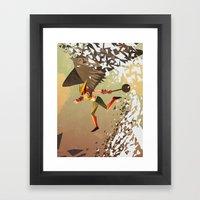 Flying And Hitting Stuff… Framed Art Print