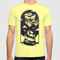 Time Heals Mens Fitted Tee Lemon SMALL