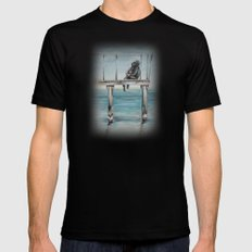 Do You Remember We Were Sitting There Black SMALL Mens Fitted Tee