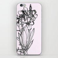 flower in black ink iPhone & iPod Skin