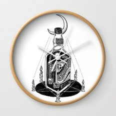 Devil's Moonshine Wall Clock