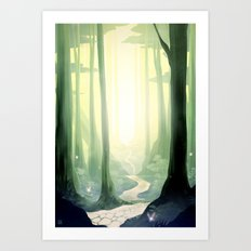 Kokiri Forest Art Print