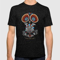 Mexican Owl Mens Fitted Tee Tri-Black SMALL