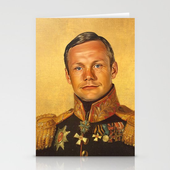 Neil Armstrong - replaceface Stationery Card
