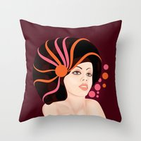 Snail Lady Throw Pillow