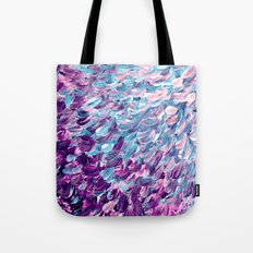 FROSTED FEATHERS 1 Colorful Lavender Purple Lilac Serenity Rose Quartz Ombre Ocean Splash Abstract Tote Bag