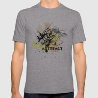 Abstract Mens Fitted Tee Athletic Grey SMALL