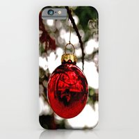 iPhone & iPod Case featuring Simple Christmas bulb by Vorona Photography