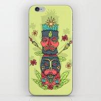 Tiki totem iPhone & iPod Skin