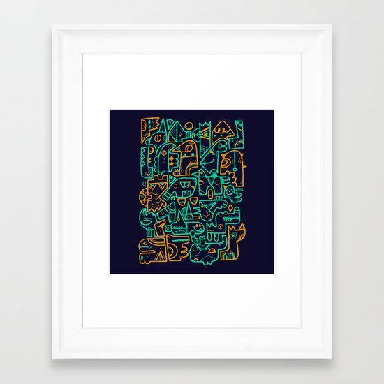 Tribal Animals Framed Art Print
