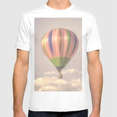 Magical pink balloon White Mens Fitted Tee SMALL
