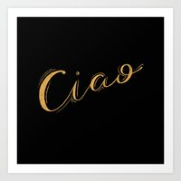 Ciao Handlettering Art Print