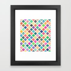 Watercolor geometric pattern Framed Art Print