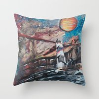 Two Travelers Throw Pillow