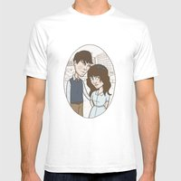 500 Days Of Summer Portr… Mens Fitted Tee White SMALL