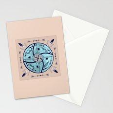 Sheltering Moon Native Symbols Mandala Stationery Cards