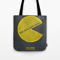 Pac-Man Typography Tote Bag