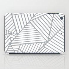 Abstraction Lines Zoom Grey iPad Case