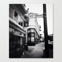 Jack Kerouac Alley Canvas Print
