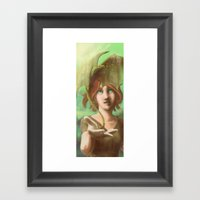Green Dragon Framed Art Print