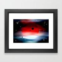 Planet deep in space. Framed Art Print