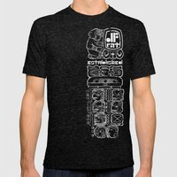 MAYAN GLYPH Mens Fitted Tee Tri-Black SMALL