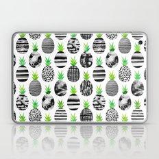 Black & White Pineapples Laptop & iPad Skin