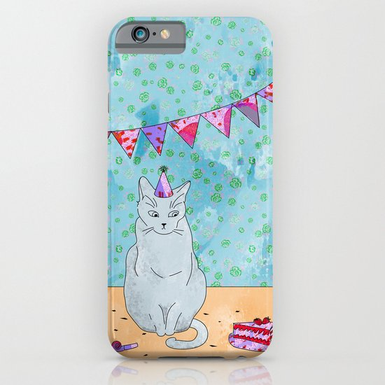 Birthday Cat iPhone & iPod Case