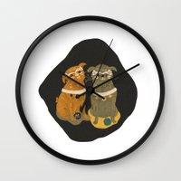 Fu Pugs Wall Clock