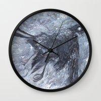 The Bearded Crow Wall Clock