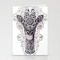 giraffe Stationery Cards featuring Giraffe by BIOWORKZ