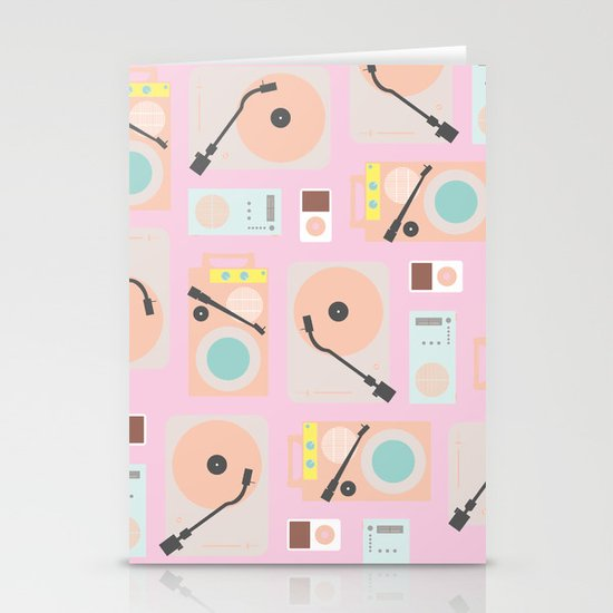Music Lover Pastel Stationery Card
