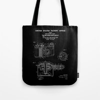 Camera Patent 1938 - Black Tote Bag
