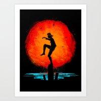 Minimalist Karate Kid Tr… Art Print