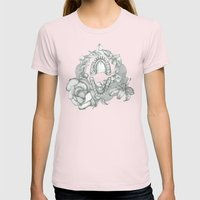 L I L Y  Womens Fitted Tee Light Pink SMALL