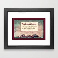 Ten Seamen's Sweaters Framed Art Print