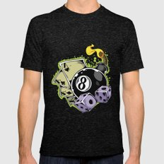 Gambler Mens Fitted Tee Tri-Black SMALL