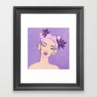 Selfie Girl_5 Framed Art Print