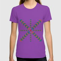 X Marks the Center Womens Fitted Tee Ultraviolet SMALL