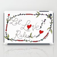 Let Love Rule iPad Case