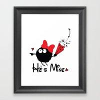 He's Mine Framed Art Print