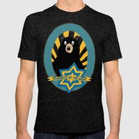Strength Of The Bear! Mens Fitted Tee Tri-Black SMALL