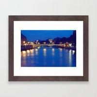 Paris by Night I Framed Art Print