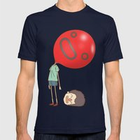 balloon Mens Fitted Tee Navy SMALL