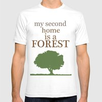 My Second Home Is A Fore… Mens Fitted Tee White SMALL